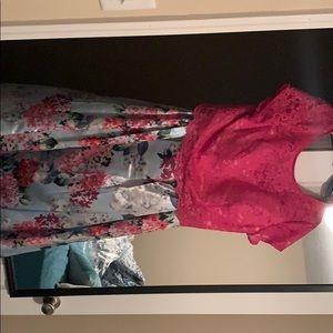 2 piece prom dress worn 1 once